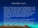 activities cont30