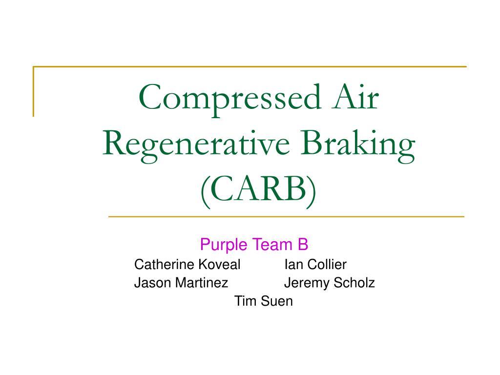 compressed air regenerative braking carb l.
