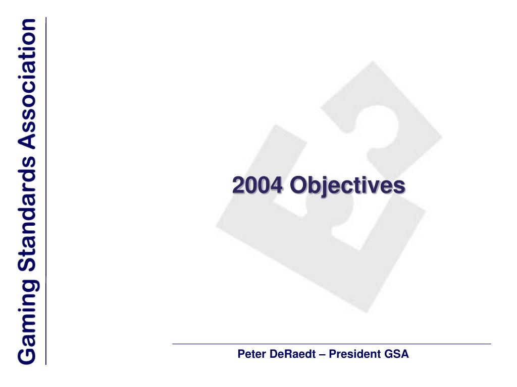 2004 Objectives