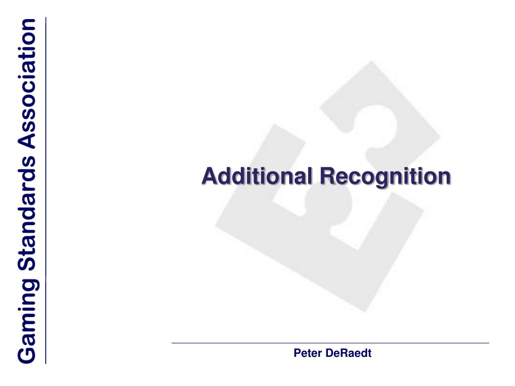 Additional Recognition