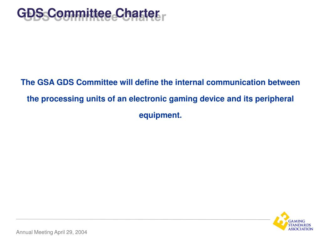 GDS Committee Charter