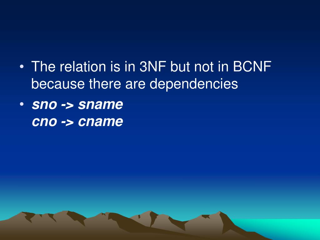 The relation is in 3NF but not in BCNF because there are dependencies