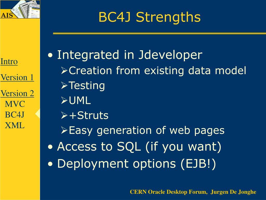BC4J Strengths
