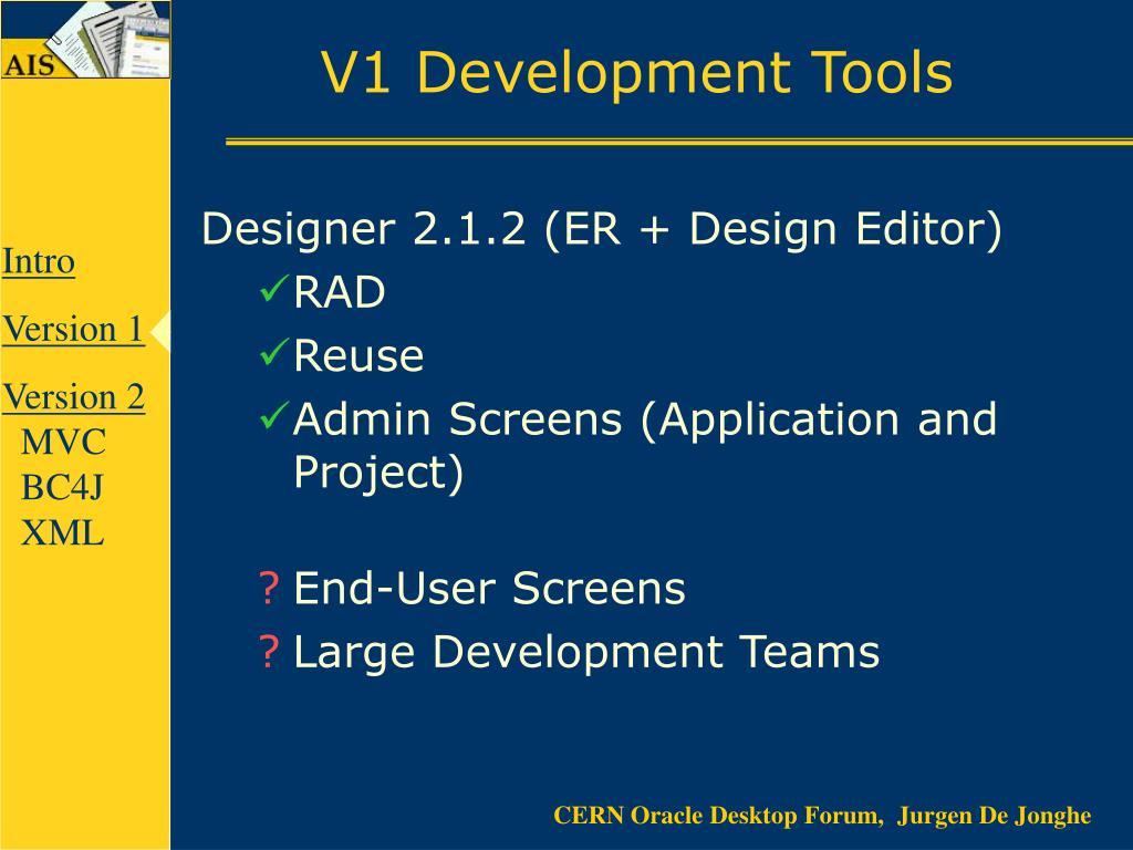 V1 Development Tools