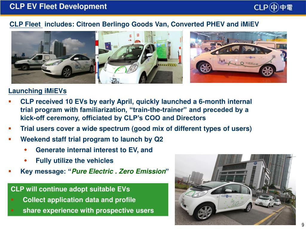 CLP EV Fleet Development