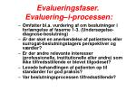 evalueringsfaser evaluering i processen