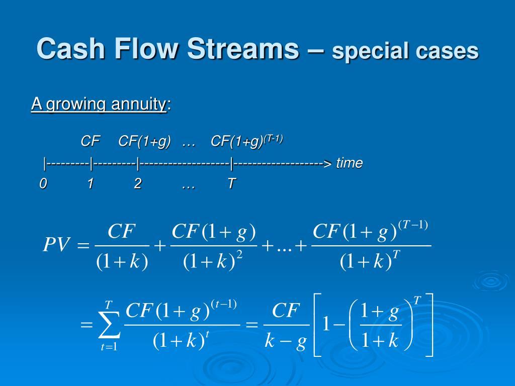 Cash Flow Streams –