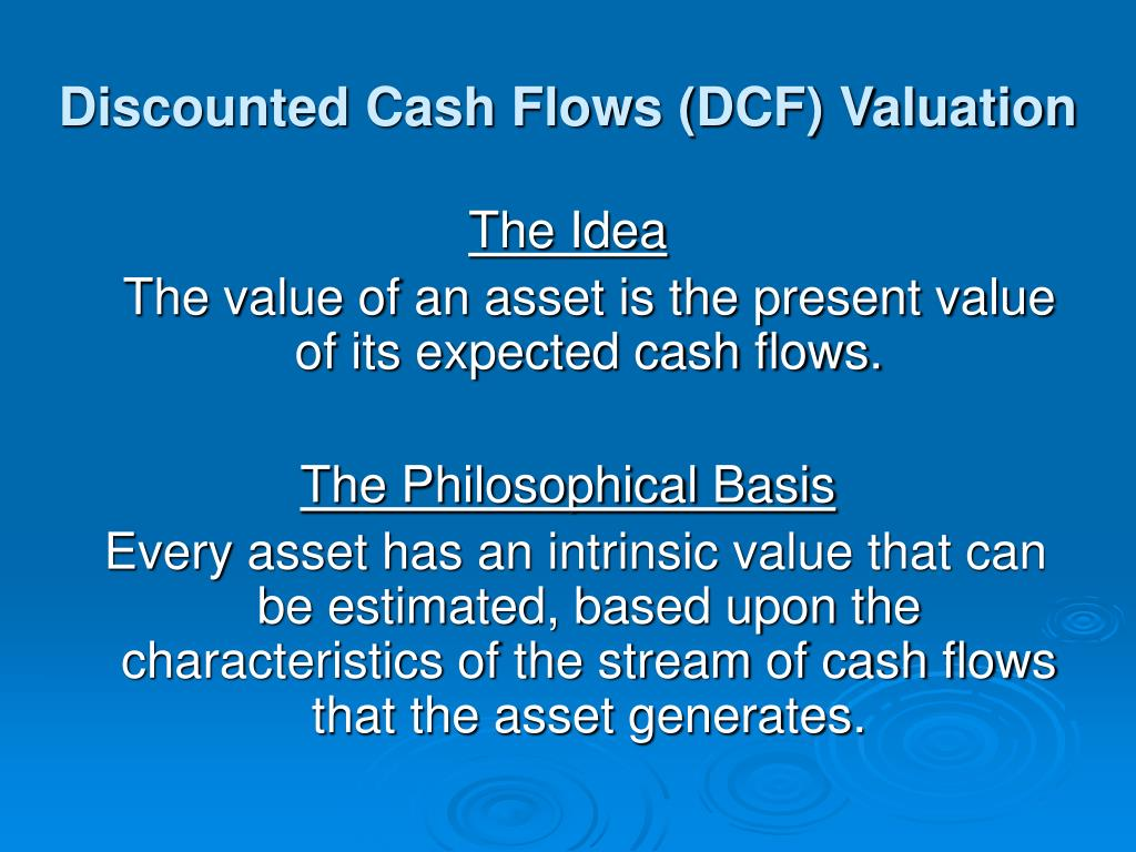Discounted Cash Flows (DCF) Valuation