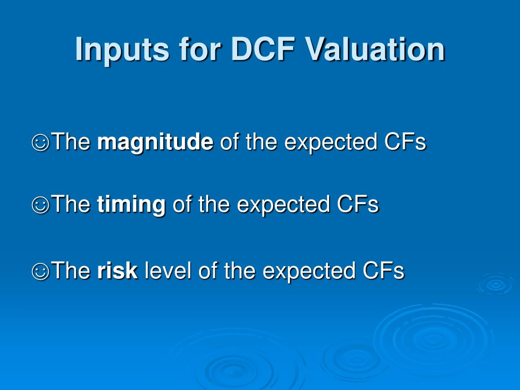 Inputs for DCF Valuation