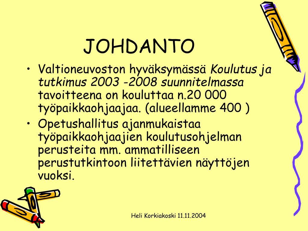 JOHDANTO