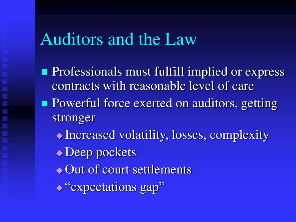 Auditors and the Law