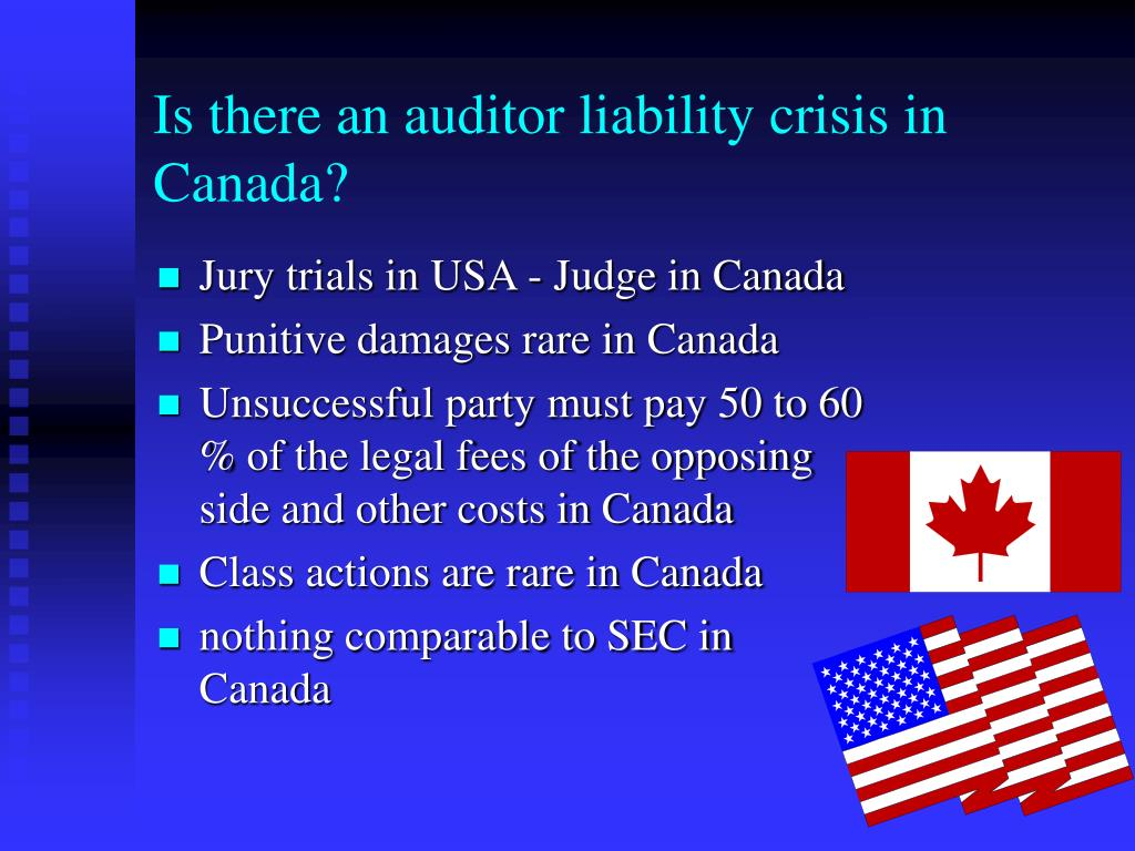 Is there an auditor liability crisis in Canada?