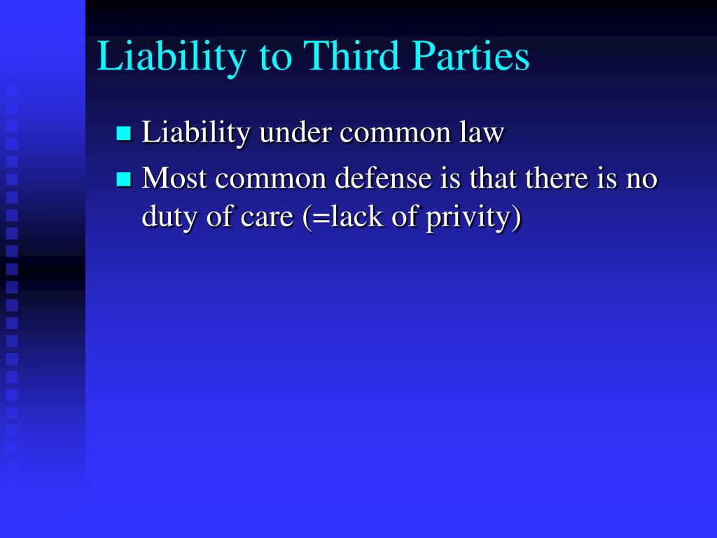 Liability to Third Parties