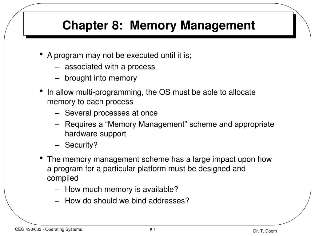 chapter 8 memory management