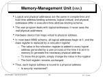 memory management unit mmu