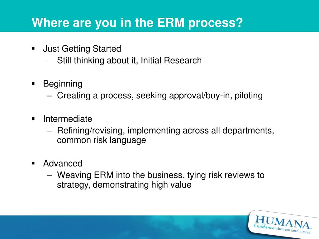 Where are you in the ERM process?