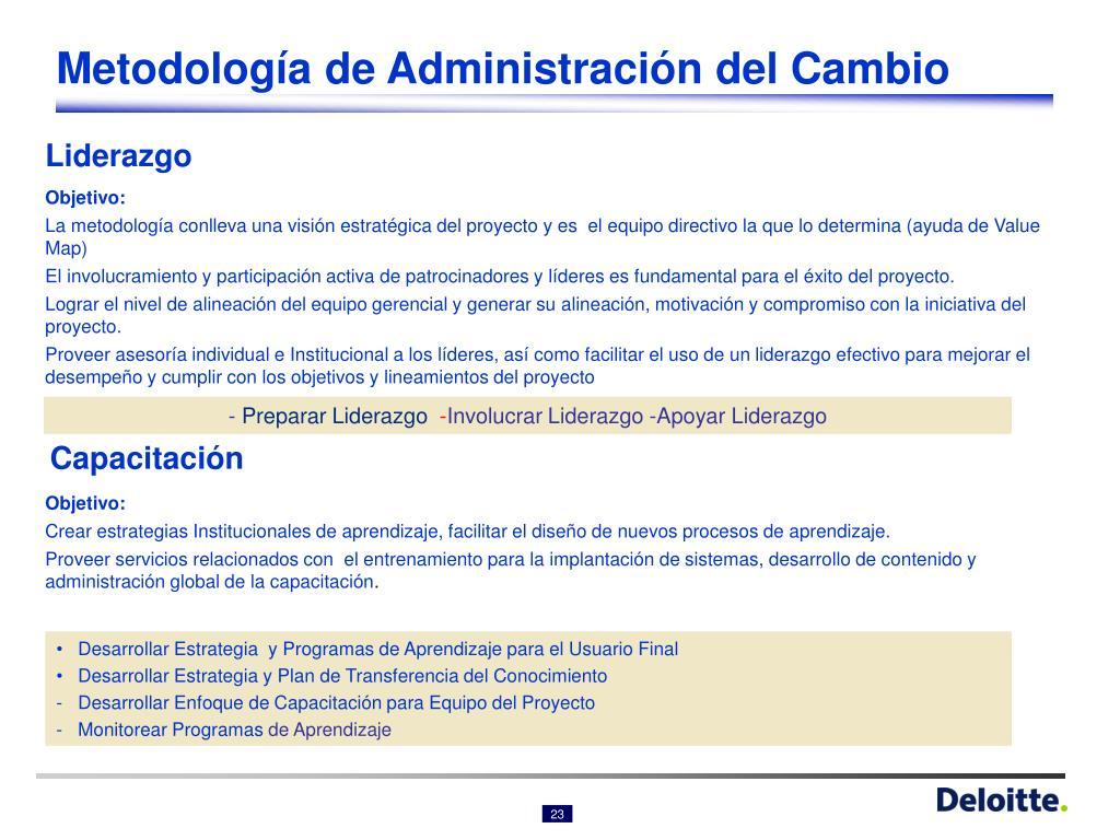 Metodología de Administración del Cambio