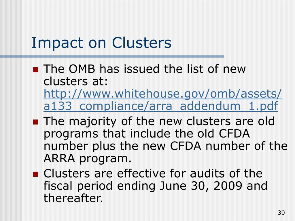 Impact on Clusters
