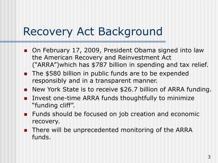 Recovery act background