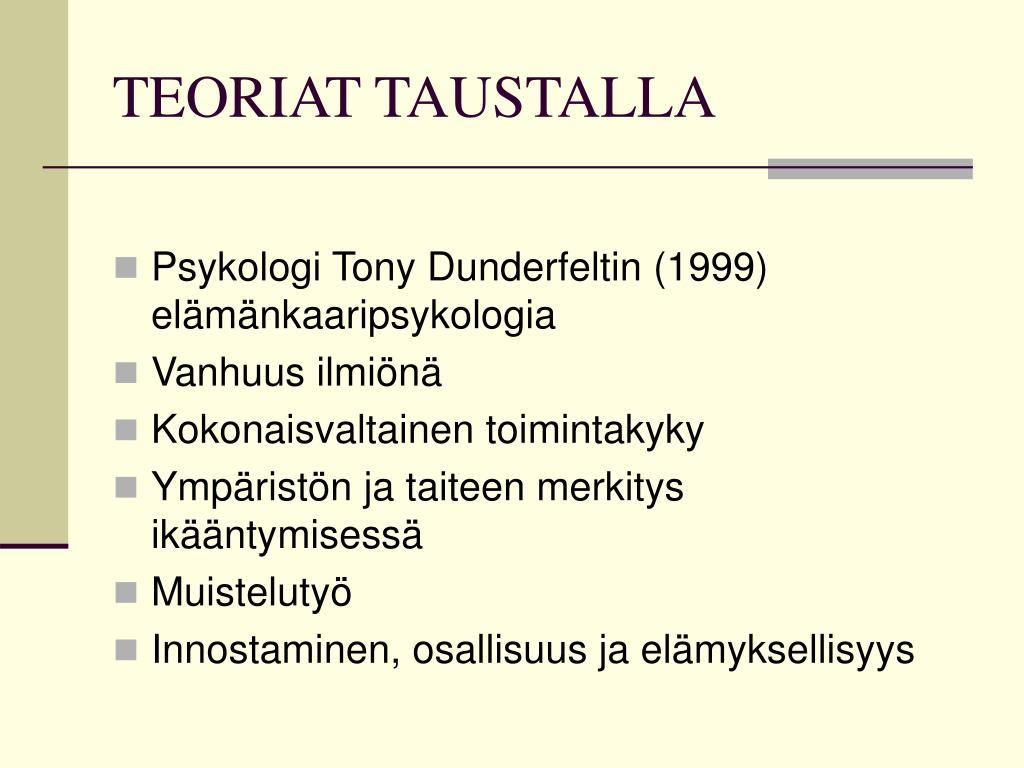 TEORIAT TAUSTALLA