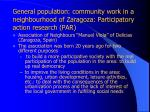 general population community work in a neighbourhood of zaragoza participatory action research par
