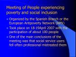 meeting of people experiencing poverty and social inclusion