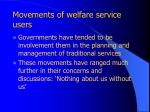 movements of welfare service users