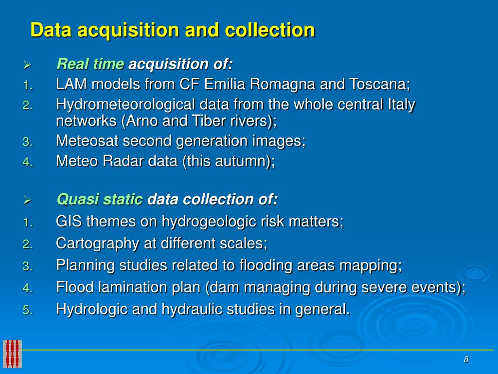Data acquisition and collection