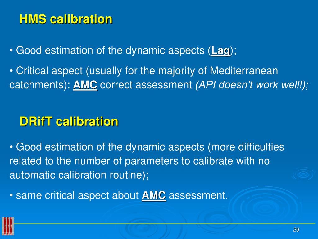 HMS calibration