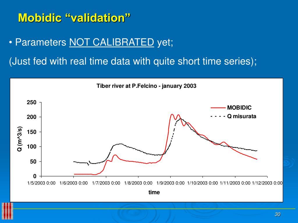 "Mobidic ""validation"""