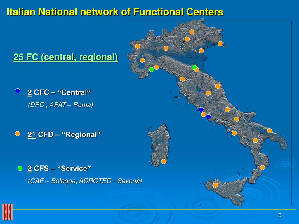 Italian National network of Functional Centers