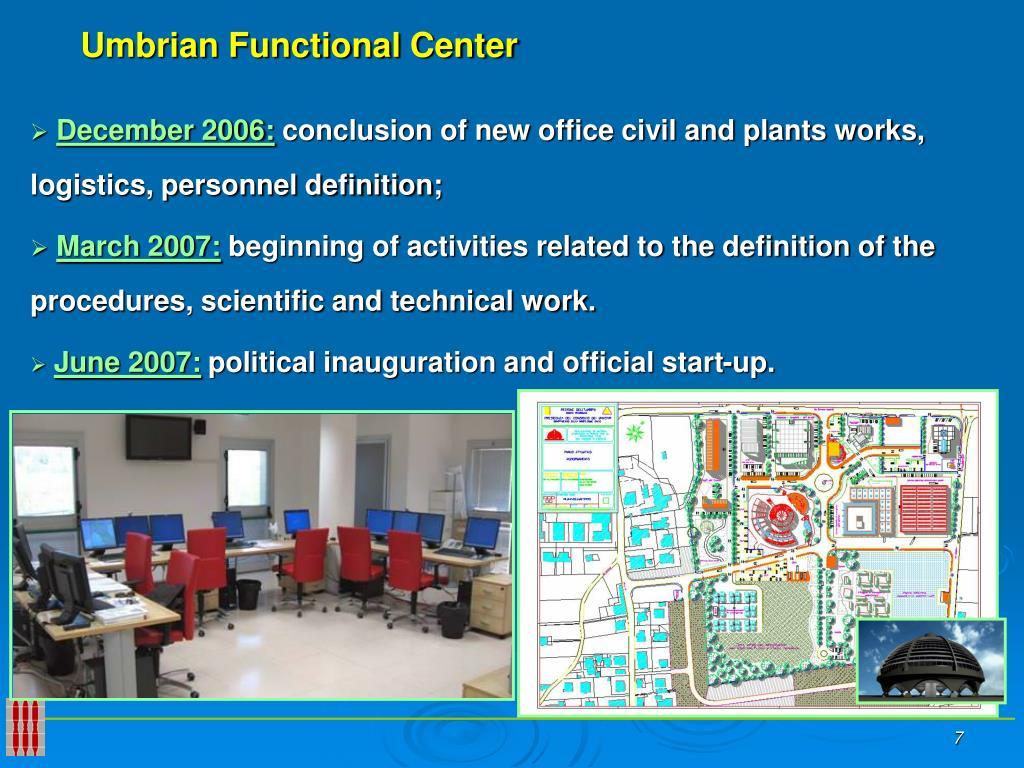 Umbrian Functional Center