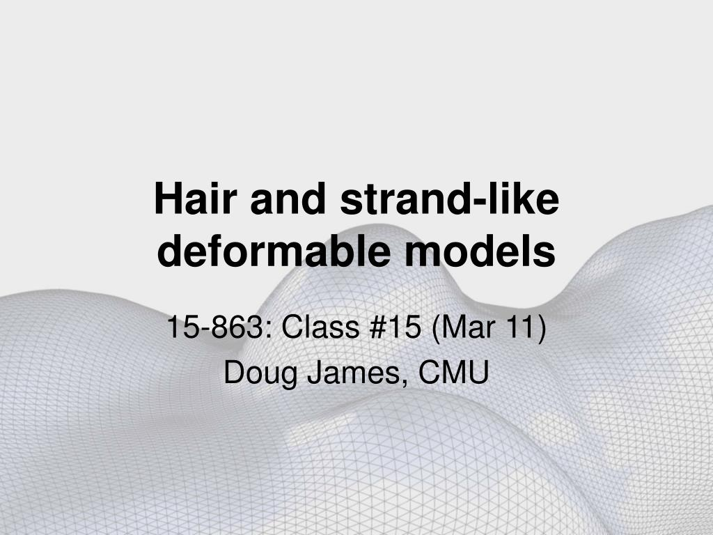hair and strand like deformable models l.