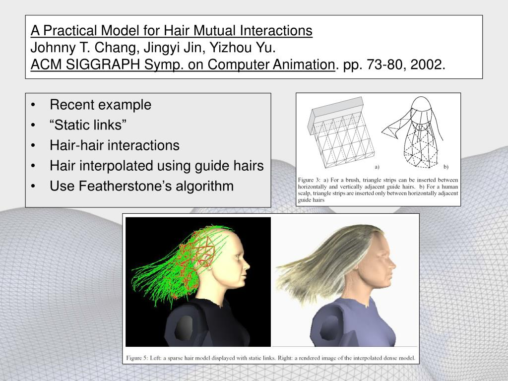 A Practical Model for Hair Mutual Interactions