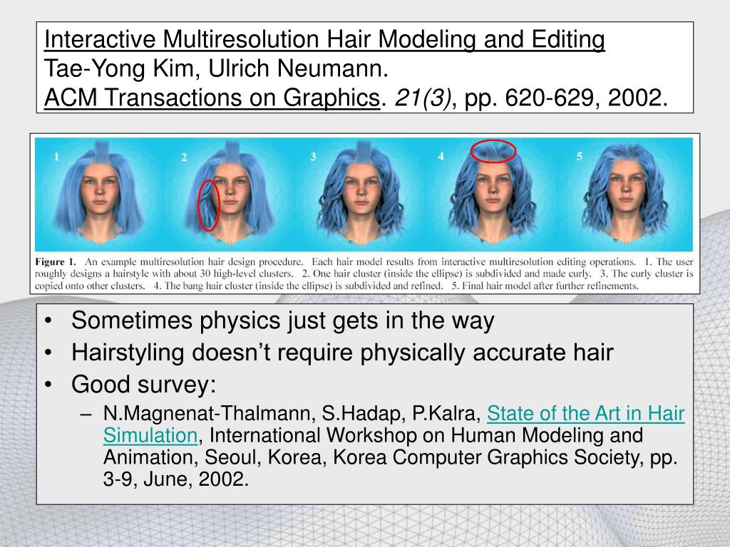 Interactive Multiresolution Hair Modeling and Editing