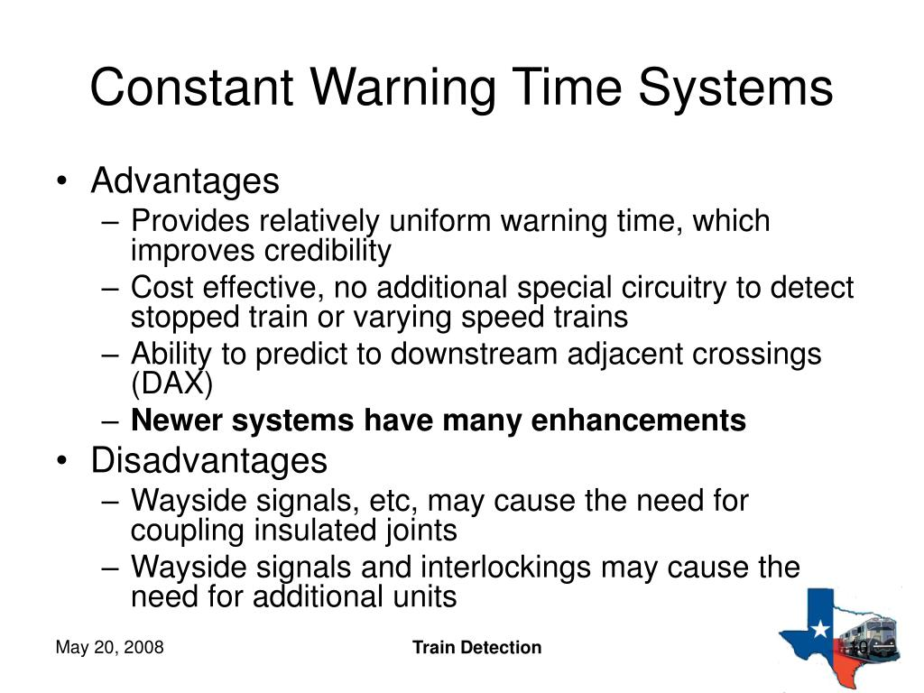 Constant Warning Time Systems