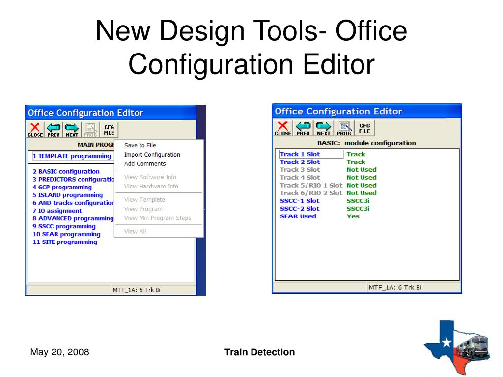 New Design Tools- Office Configuration Editor