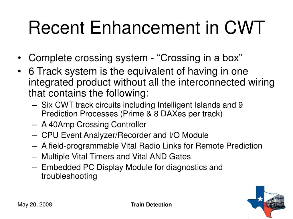 Recent Enhancement in CWT