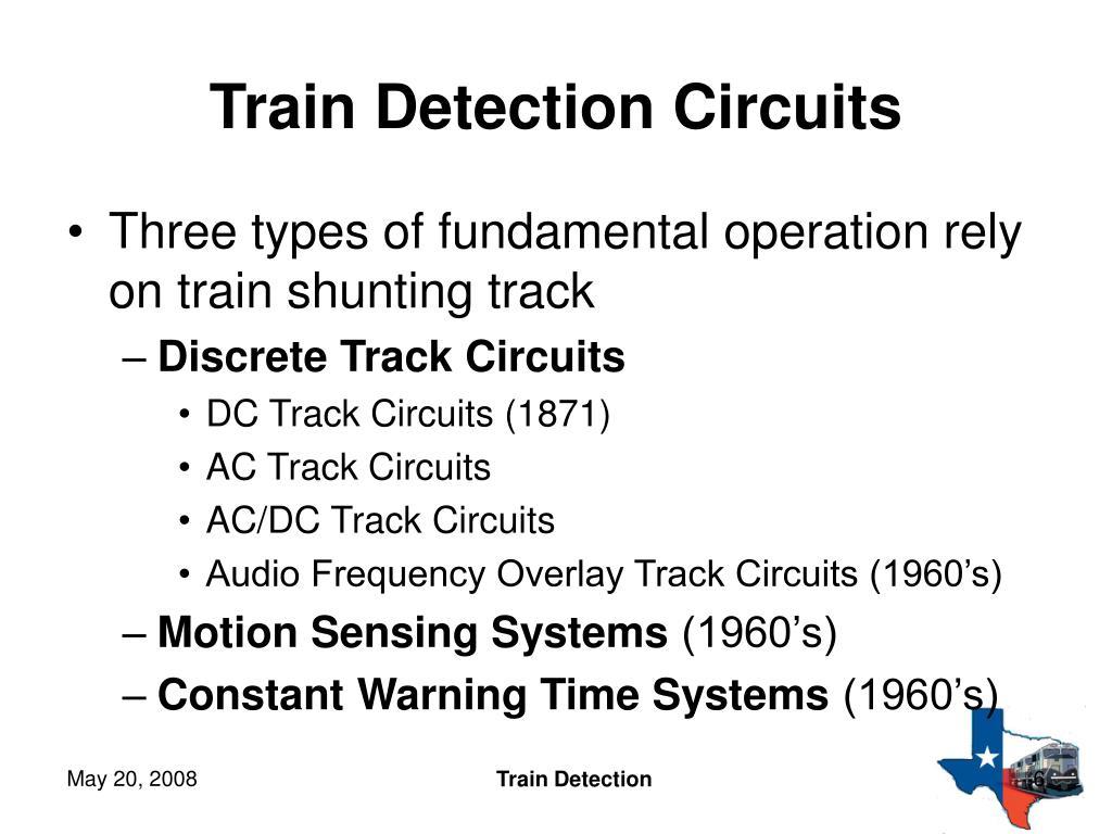 Train Detection Circuits