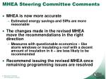 mhea steering committee comments