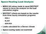 space heating load analysis