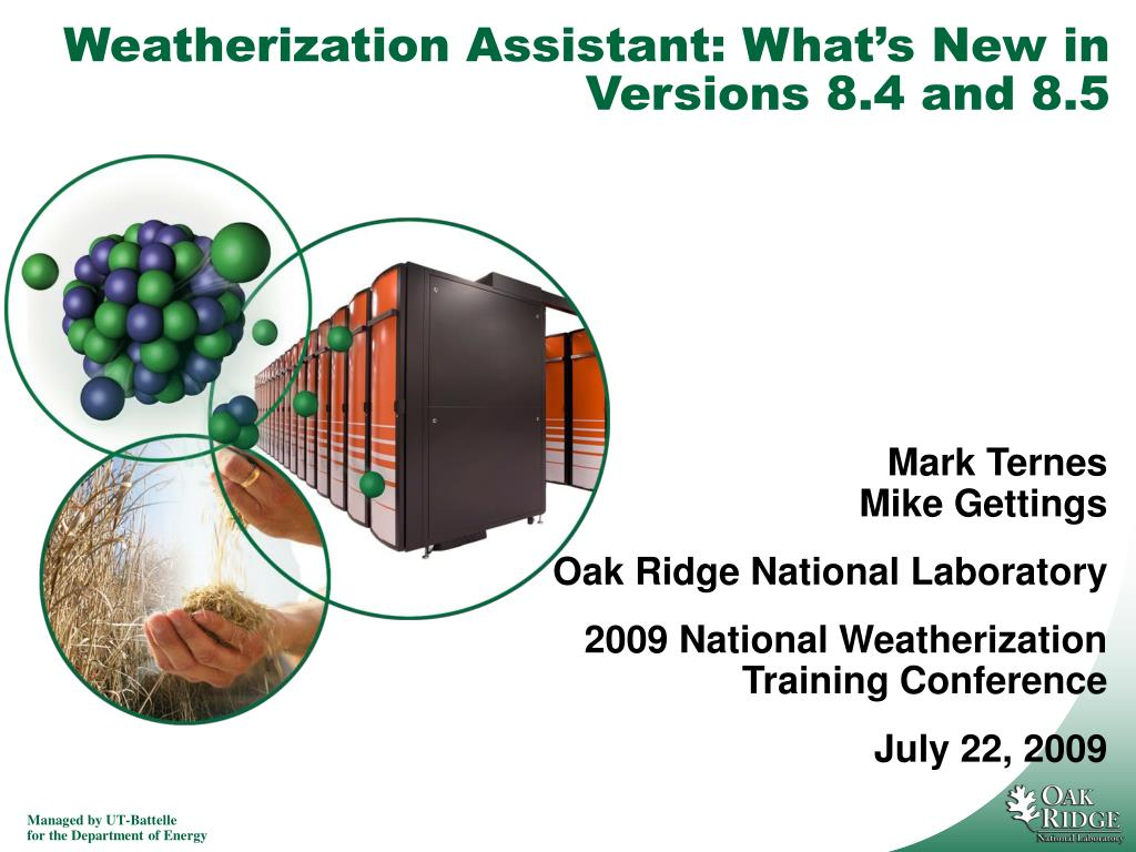 weatherization assistant what s new in versions 8 4 and 8 5 l.