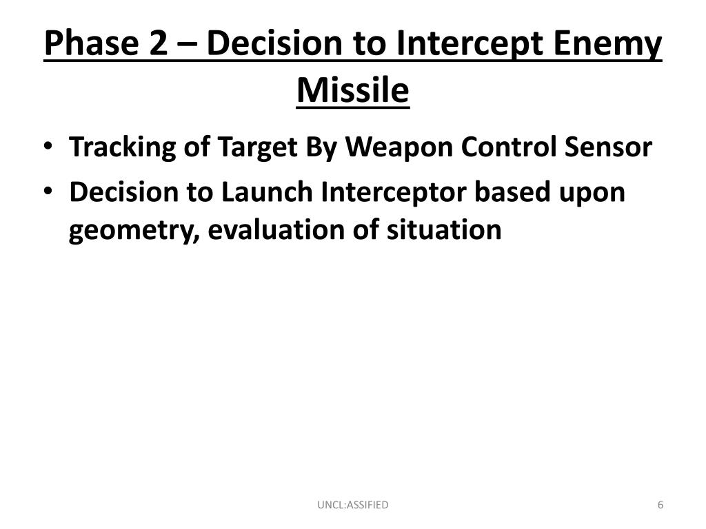 Phase 2 – Decision to Intercept Enemy Missile