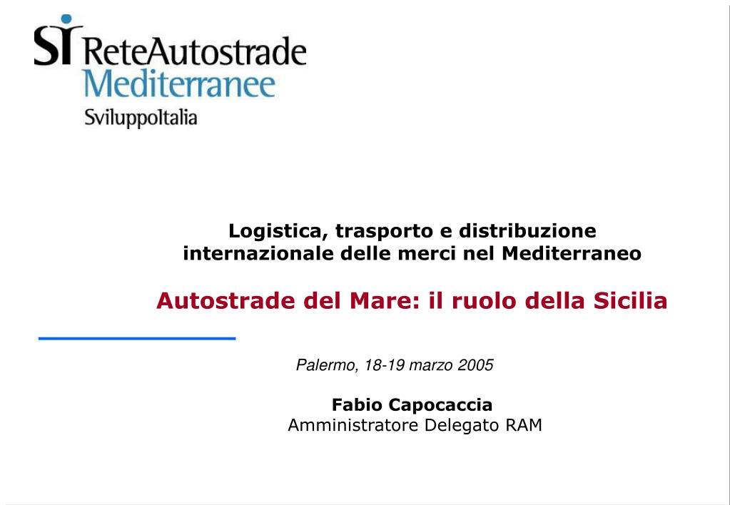 Logistica, trasporto e distribuzione