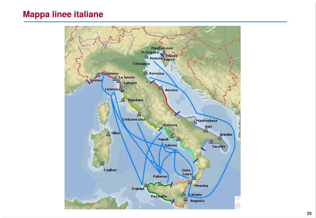 Mappa linee italiane