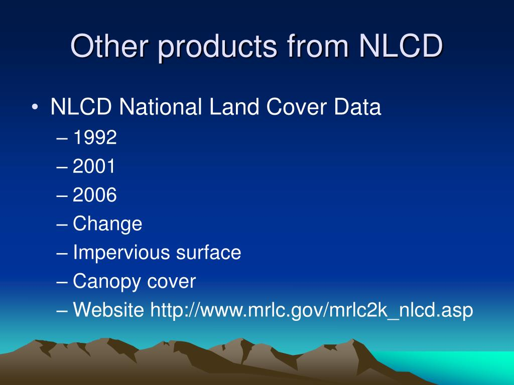 Other products from NLCD