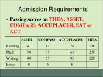 admission requirements7