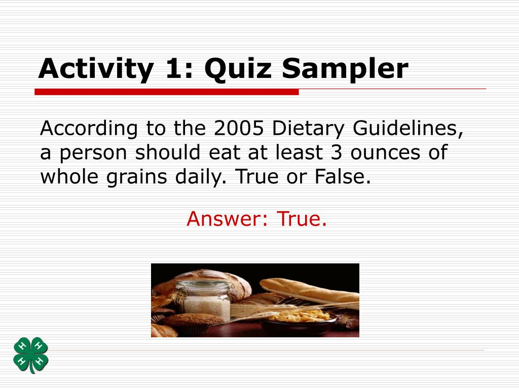 Activity 1: Quiz Sampler