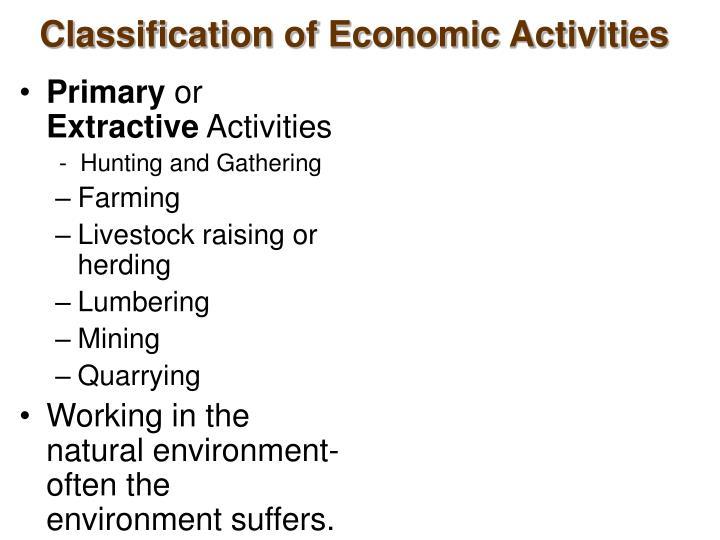 Classification of economic activities