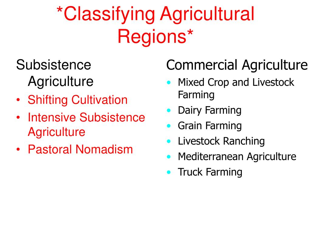 *Classifying Agricultural Regions*